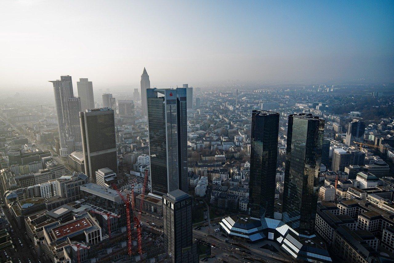 Frankfurt am Main - Skyline mit Banken